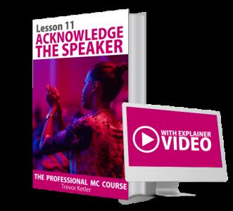 Trevor Ketler - The Professional MC Course - Acknowledge